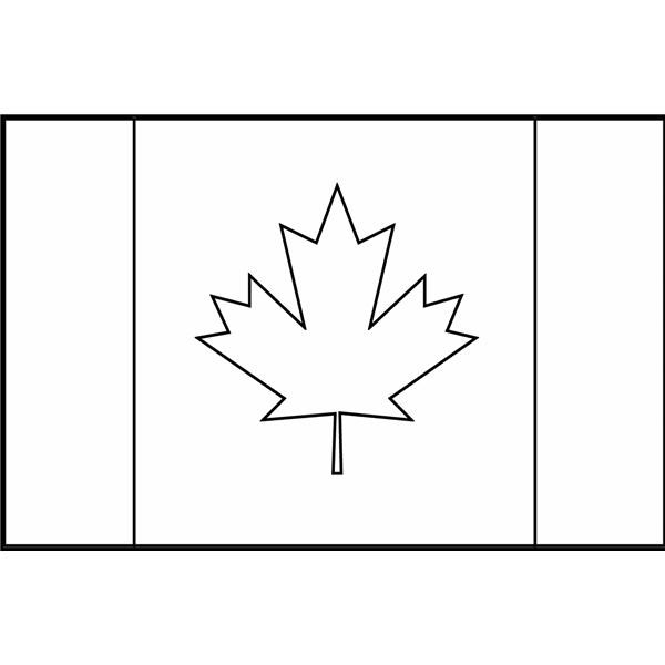 Canada Flag Coloring Pages