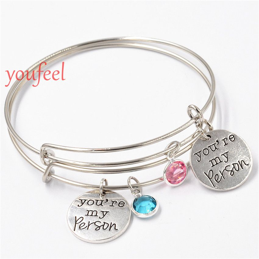 greys anatomy you are my person bracelet boyfriend girlfriend gift idea valentines day gift for her