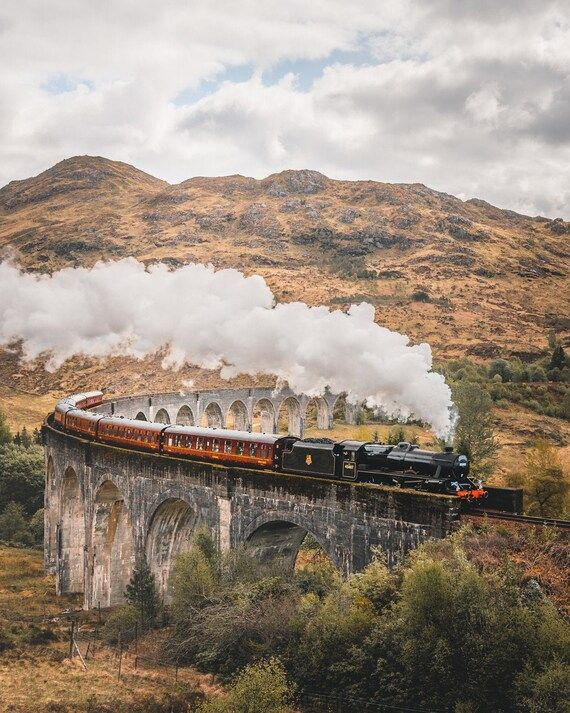 The Jacobite Passing Over Glenfinnan Viaduct // Photography Print