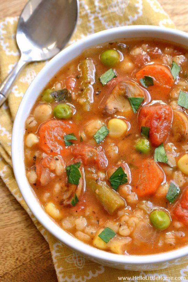 Vegetable Barley Soup Recipe Vegetable Barley Soup Vegetable