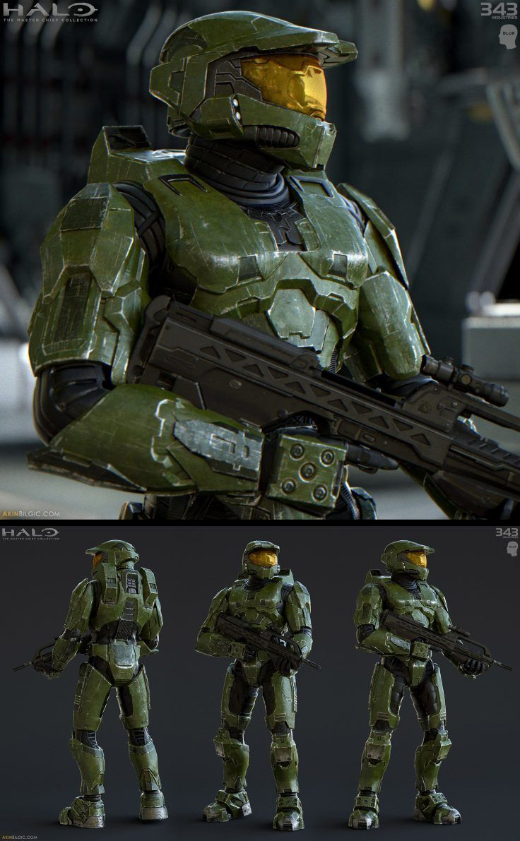 Master Chief Halo 2 Anniversary By Akin Bilgic Halo