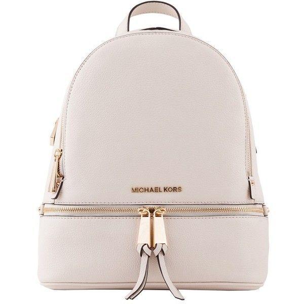 08bdf8427b Michael Kors Cream Rhea Small Leather Backpack (1