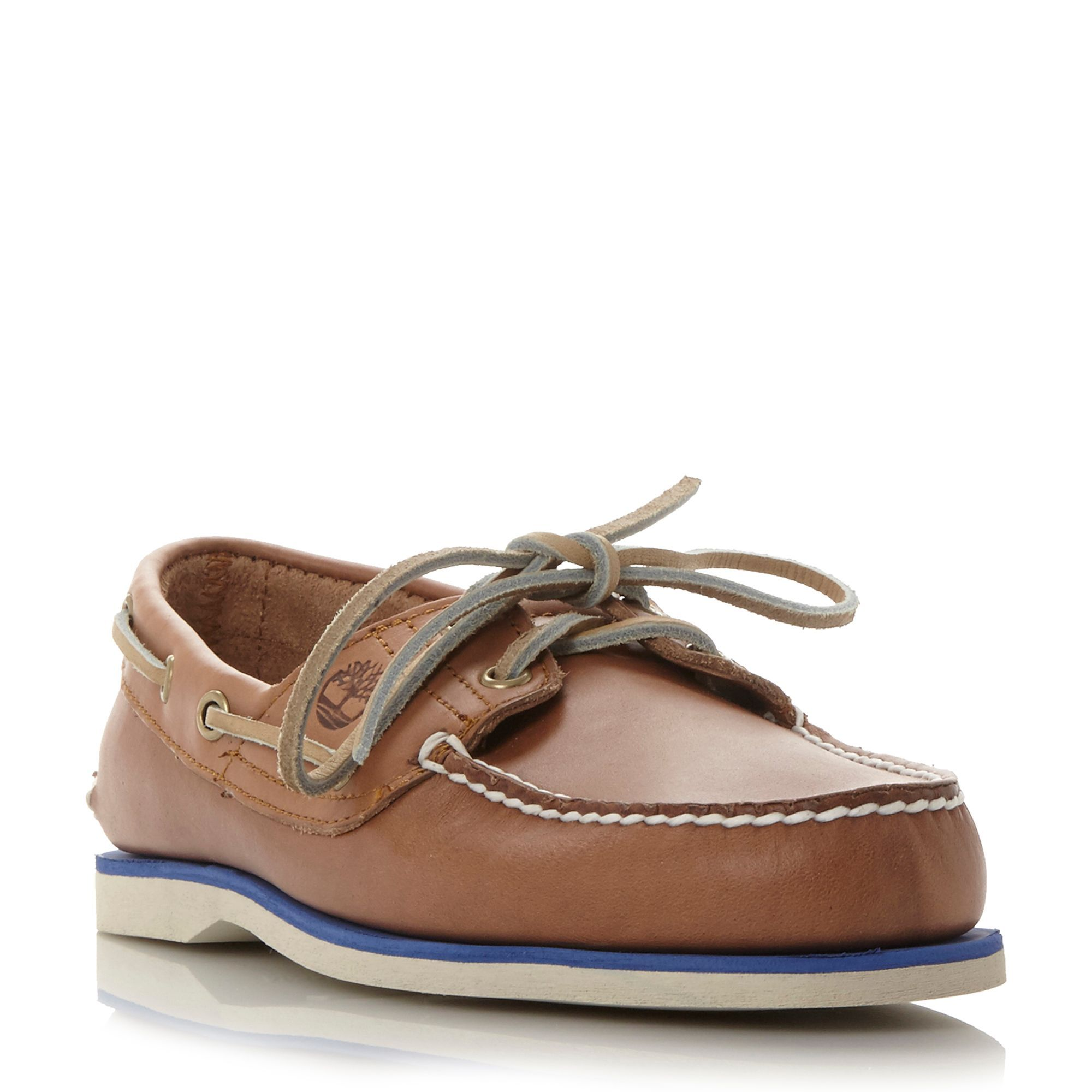 Timberland A16m8 colour pop boat shoe, Tan | Boat shoes