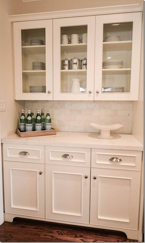 Small butler 39 s pantry home kitchen bar pinterest for Built in kitchen bar