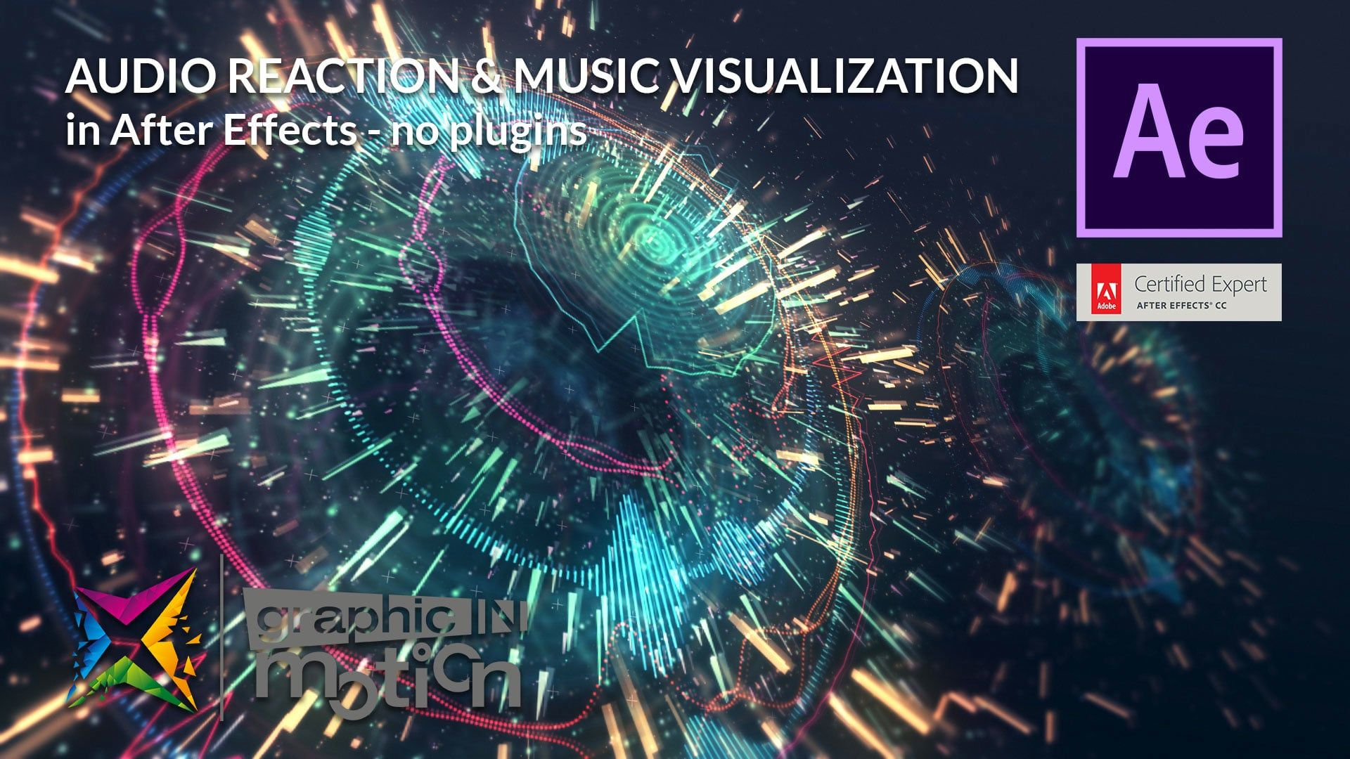 Audio Reaction Visualization In After Effects Tutorial No Plugins After Effect Tutorial Motion Graphics Tutorial Adobe After Effects Tutorials
