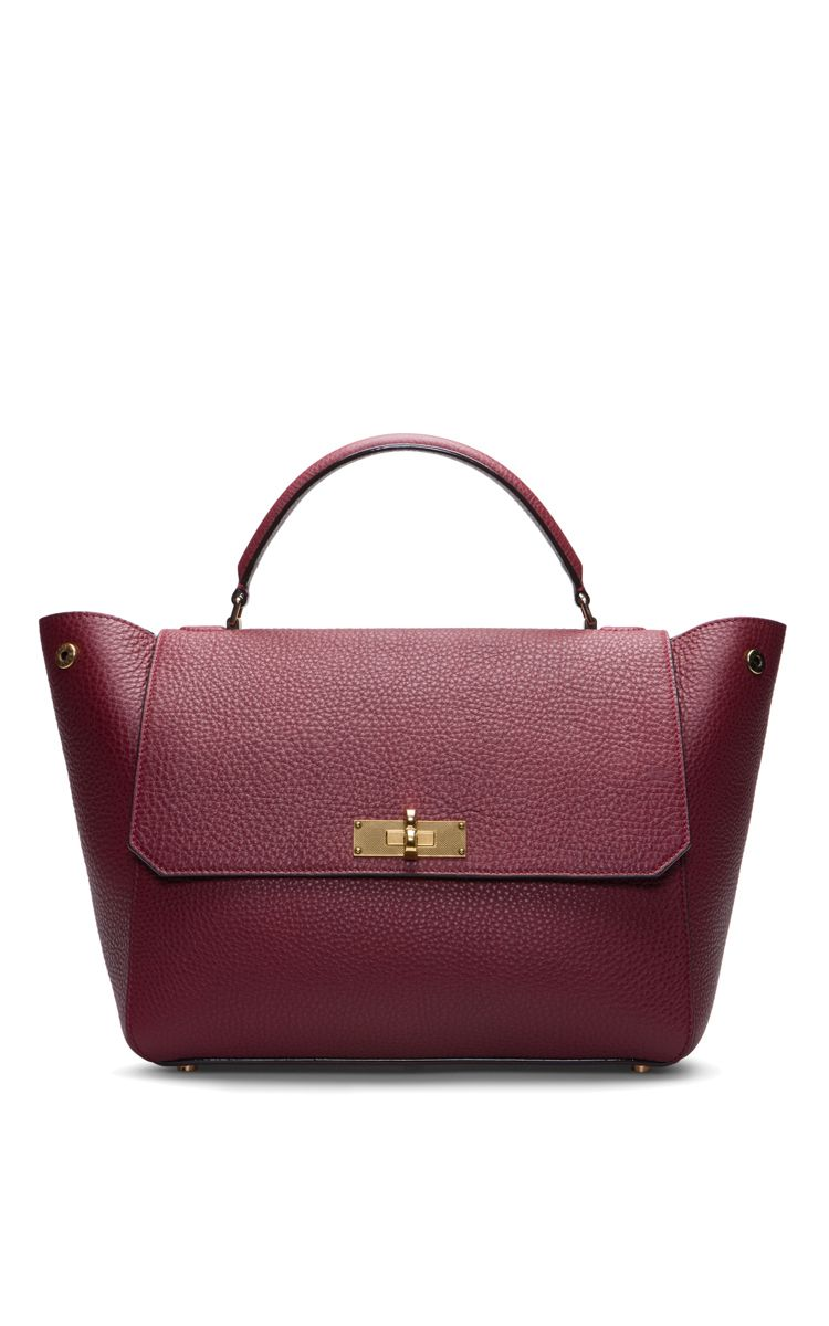 Medium Leather Top Handle Bag In Dark Red by Bally for Preorder on Moda  Operandi 0cf30e1cd8c9a