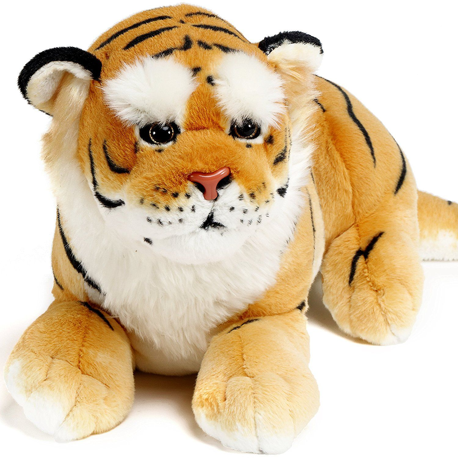 Amazon Com Aung The Burmese Tiger 27 Inch Large Stuffed Animal Plush By Viahart Toys Amp Games Tiger Stuffed Animal Large Stuffed Animals Animals [ 1500 x 1500 Pixel ]
