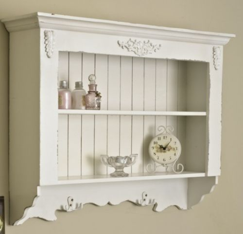 Ornate White Painted Wall Shelf Unit Shabby Vintage Chic Home Kitchen Bathroom Shabby Chic Dresser Shabby Chic Cabinet White Wall Shelves