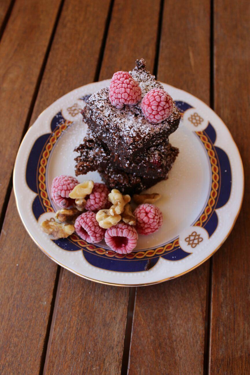 Brownies con frutos rojos
