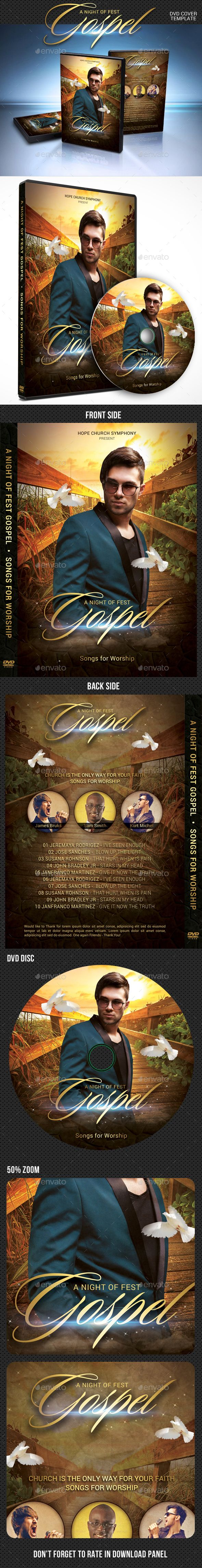 gospel fest dvd cover template cover template print templates and