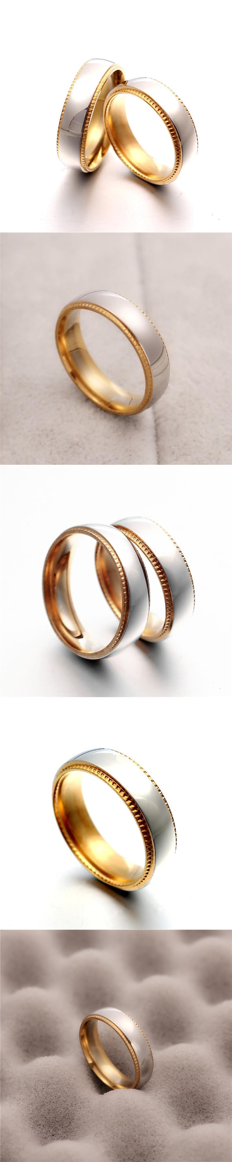 hot movie mens finger rings the one ring titanium stainless steel gold ring for mens gifts wedding men jewelry - The One Ring Wedding Band