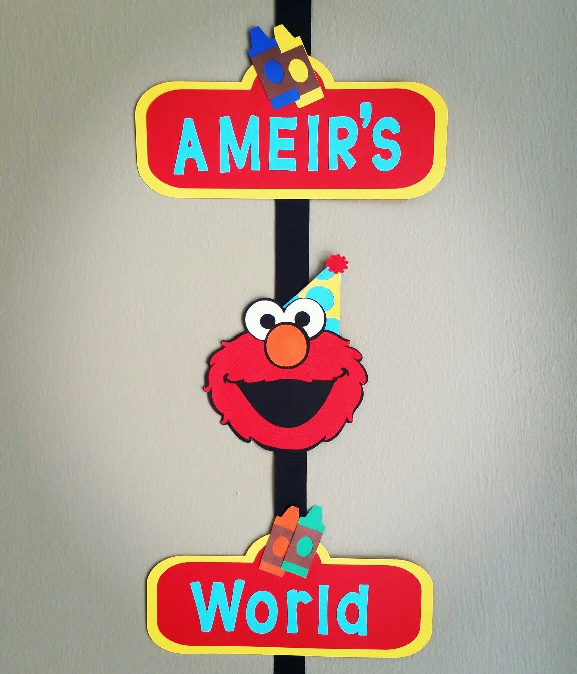 Elmo Welcome Door Sign, Elmo\'s World Door Sign, Elmo Welcome Sign ...
