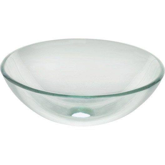 Vasque à Poser Luna En Verre 3950 X 3950 Cm Leroy Merlin