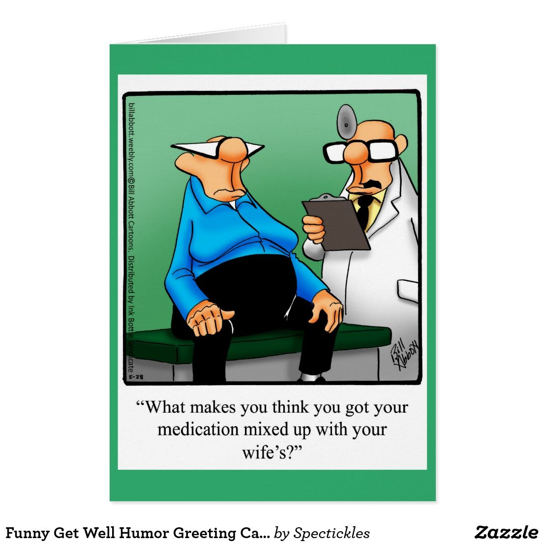 Funny Get Well Humor Greeting Card Funny Greeting Cards