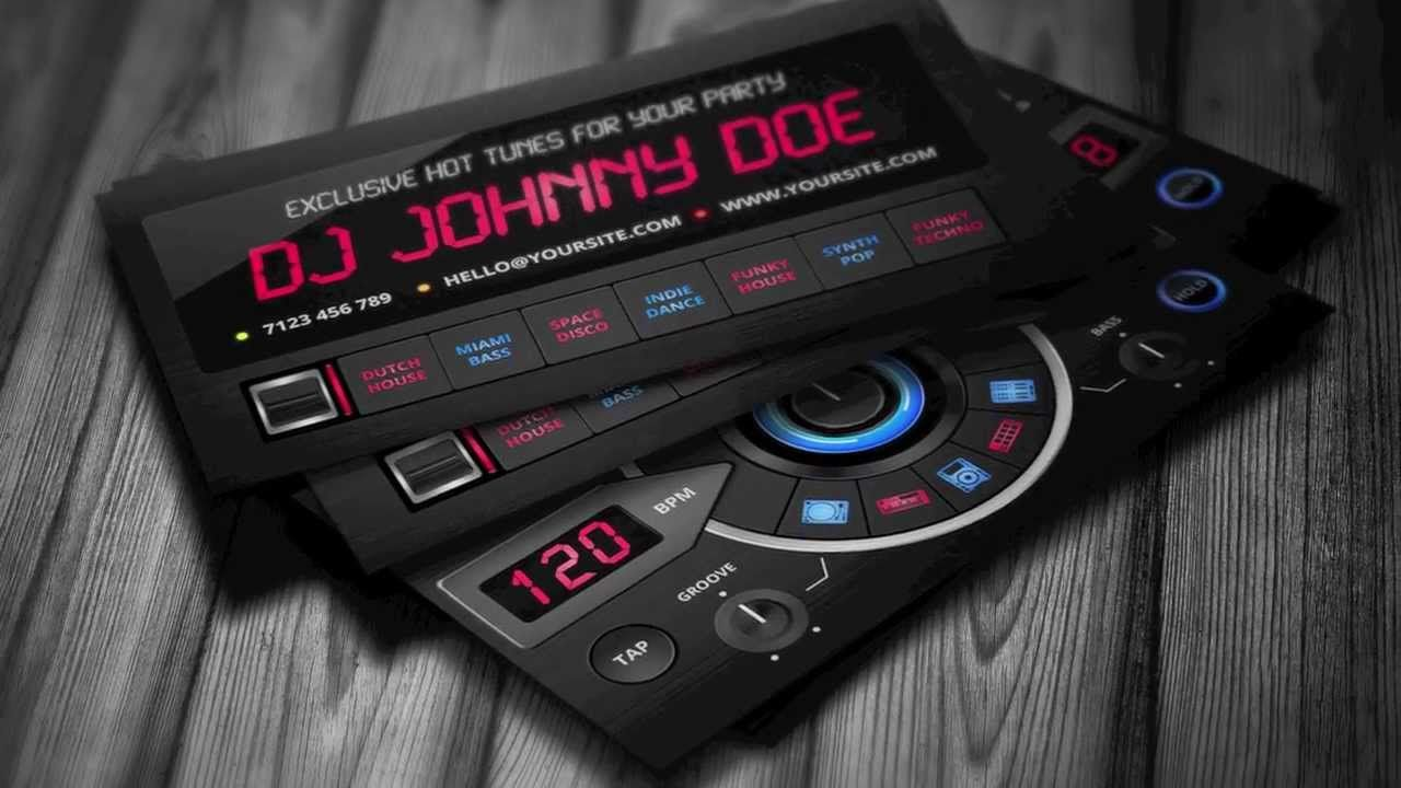 creative dj business card template dj business cards dj business