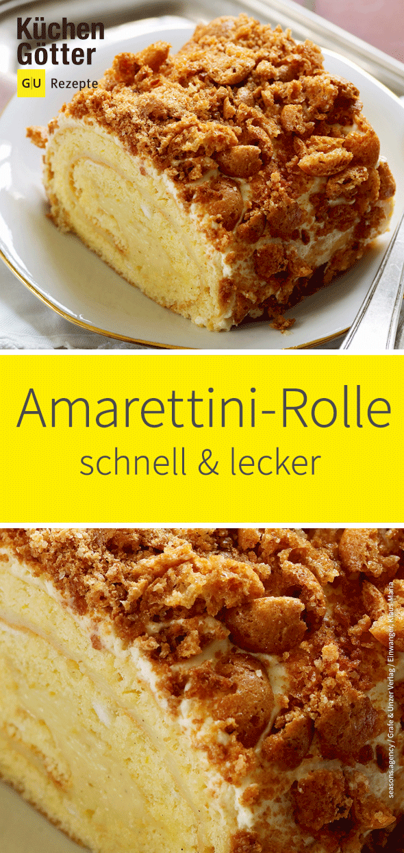 Vanillerolle mit Amarettini #kuchentisch
