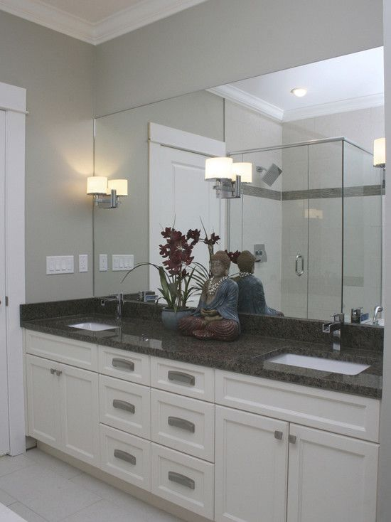 Like The White Vanity With Dark Countertop Not This Particular Counter Per Se Contemporary Bathroom Design Pictures Remodel Decor And Ideas Page 138