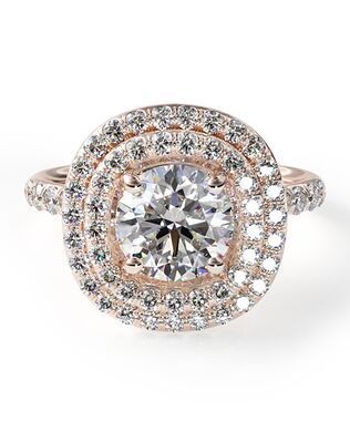 Photo of Art Deco Geometric Diamond Engagement Ring