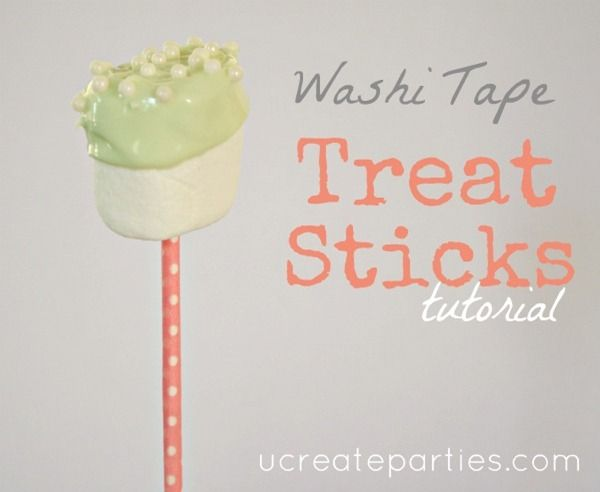 Washi Tape Treat Sticks