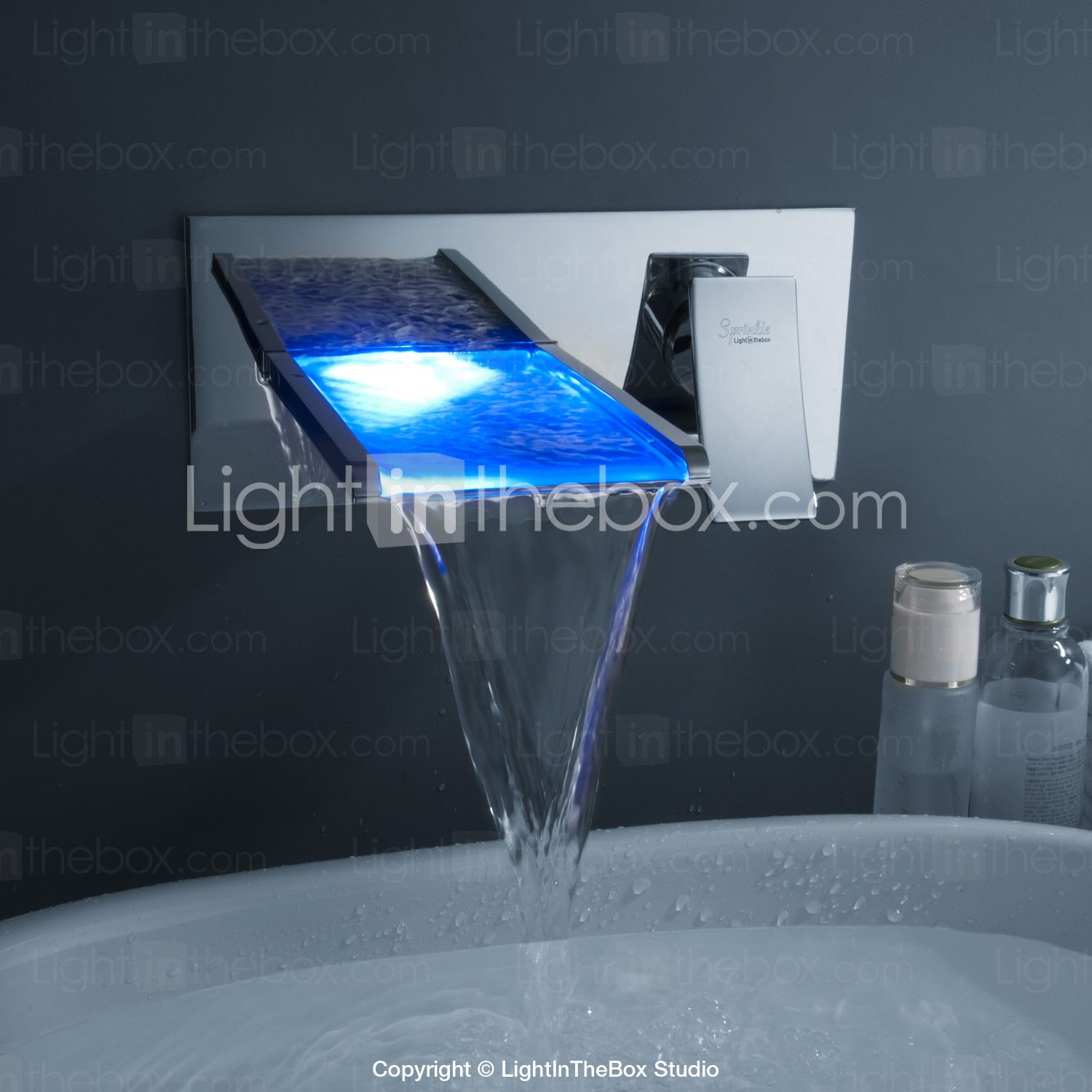 Sprinkle® by Lightinthebox - Color Changing LED Waterfall Bathroom ...