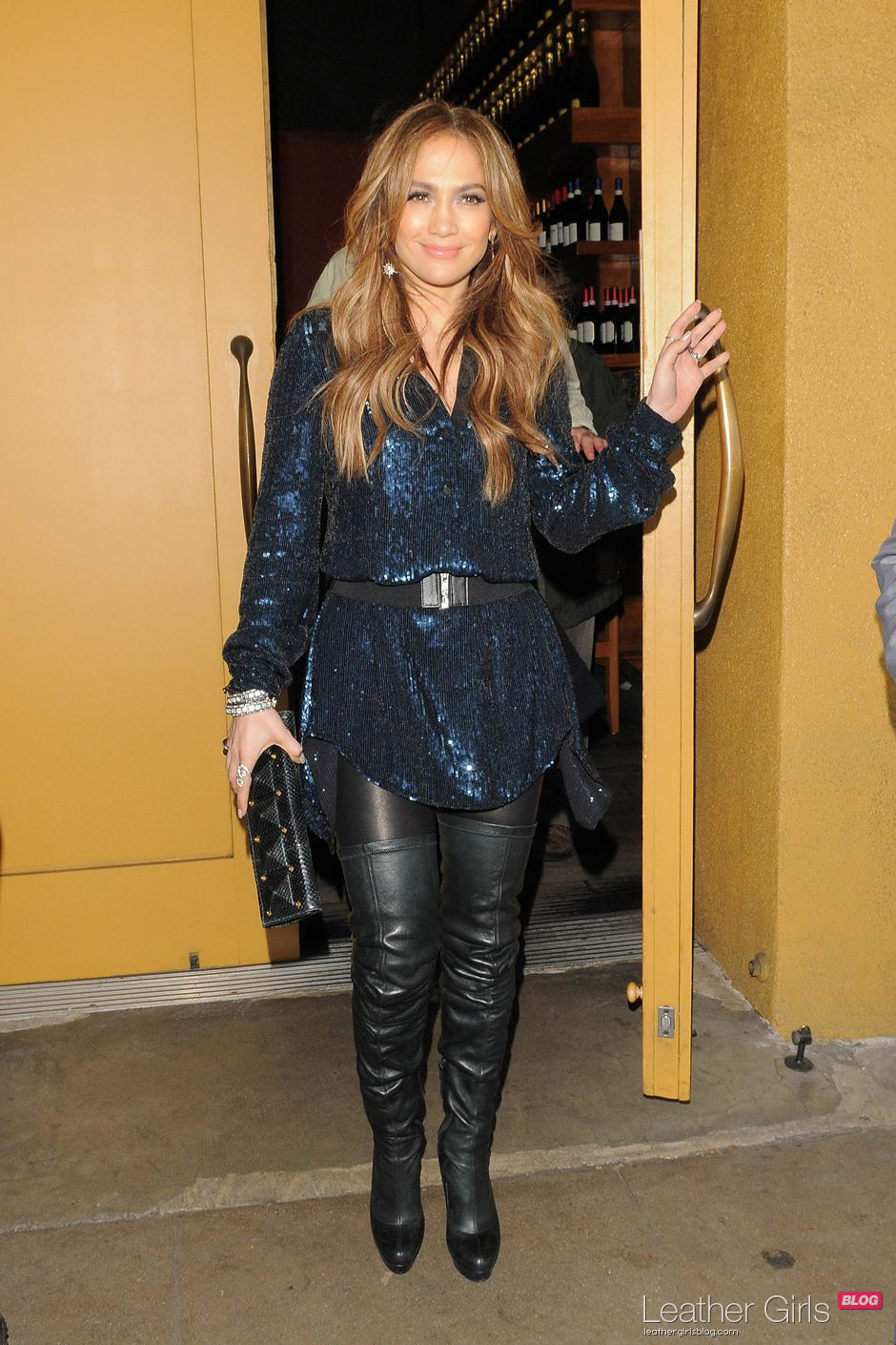 christian louboutin over the knee boots
