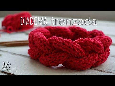 Cómo tejer una Diadema o Cinta trenzada paso a paso en dos agujas ...