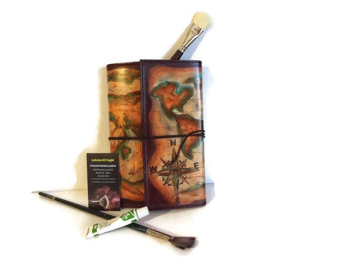 Need a travel journal for your upcoming trip hand painted leather need a travel journal for your upcoming trip hand painted leather journal old world gumiabroncs Choice Image