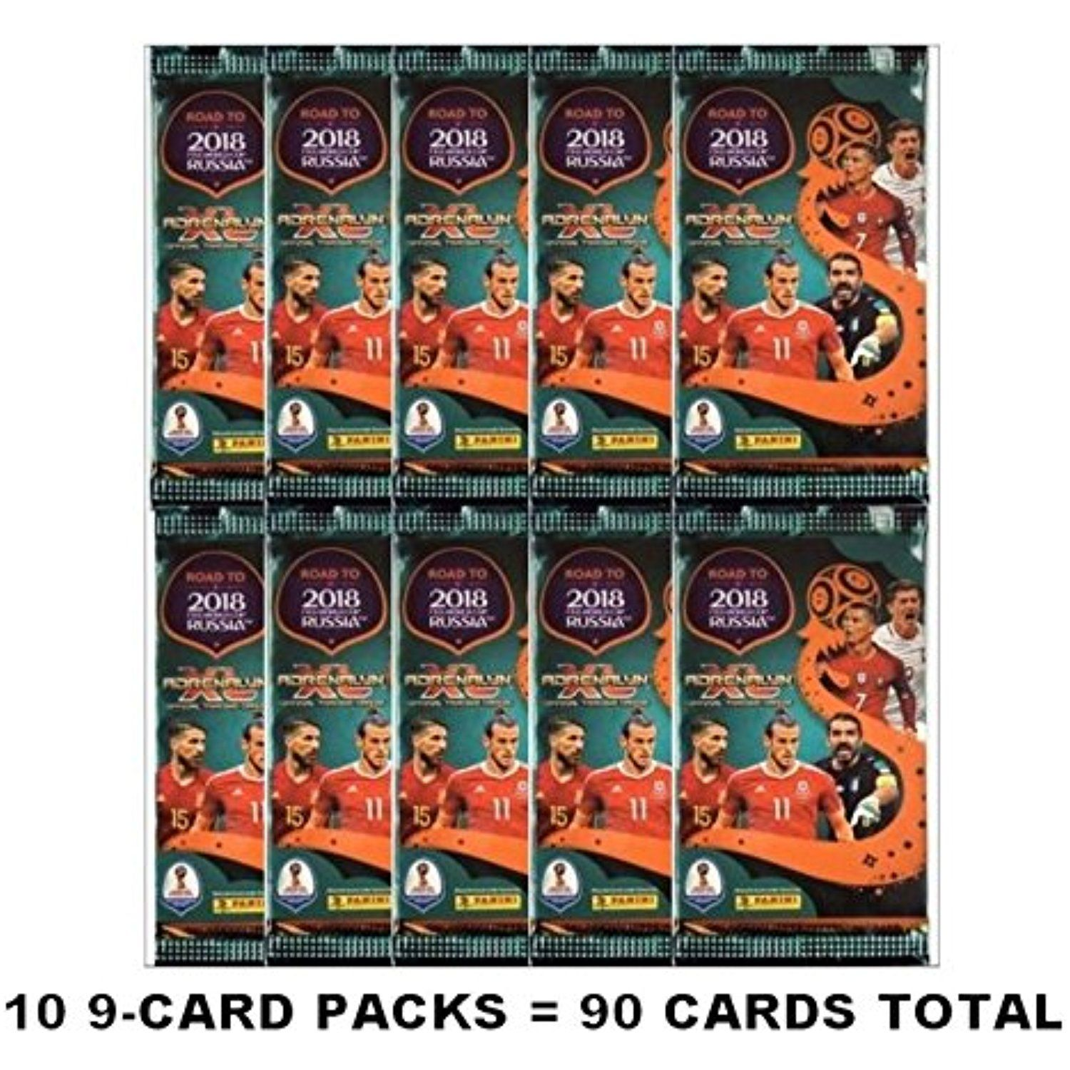 5052af8b1 Panini ROAD TO THE WORLD CUP RUSSIA 2018 Adrenalyn XL Soccer Cards. 10 9-
