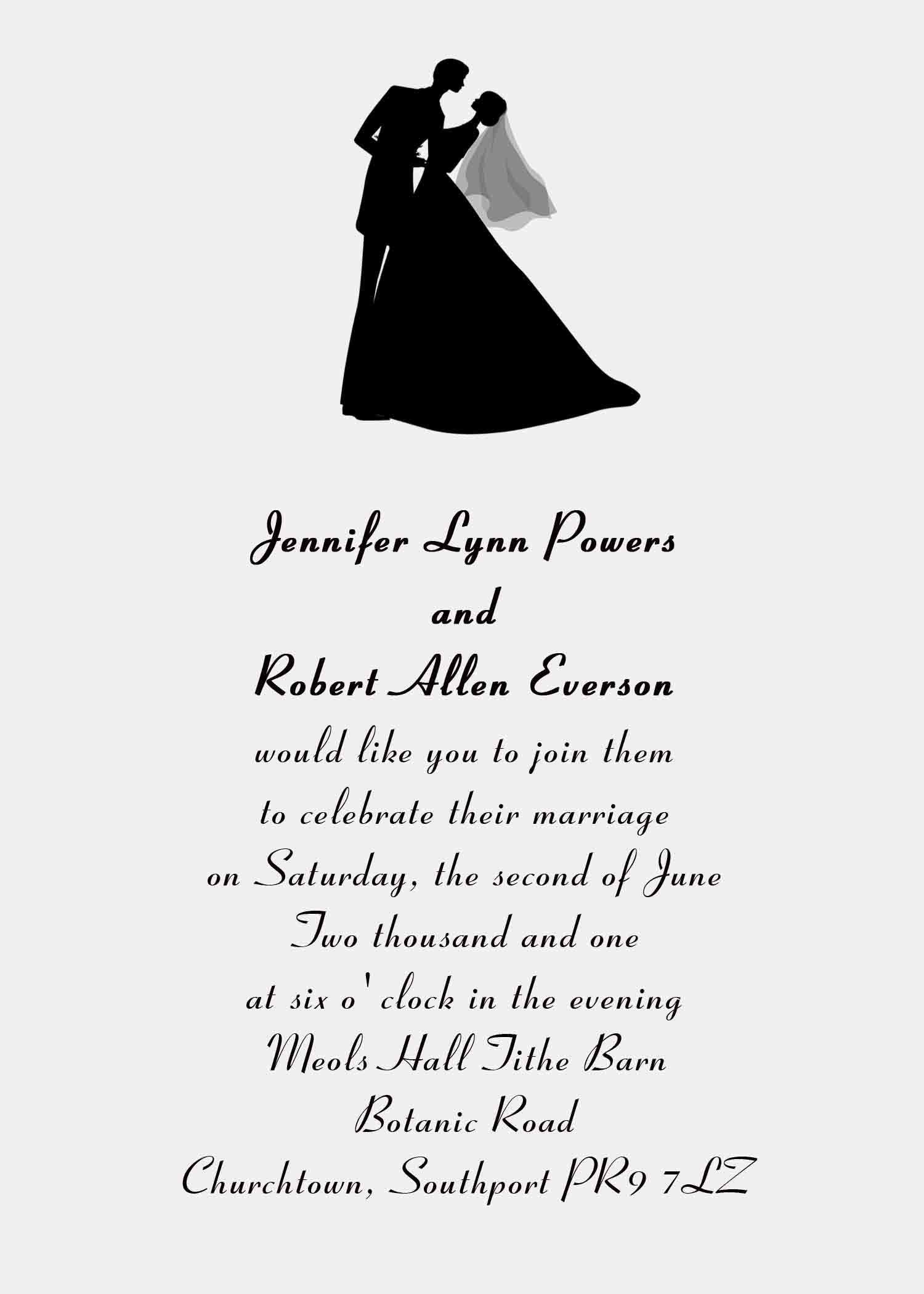 Friends Invitation Card Wordings For Wedding