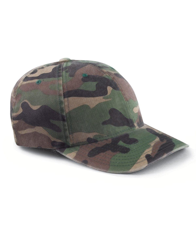 3ff5927a75f Flexfit Cotton Camouflage Baseball Cap 6977CA - Green Camo - C6116FP9CJ1 -  Hats   Caps
