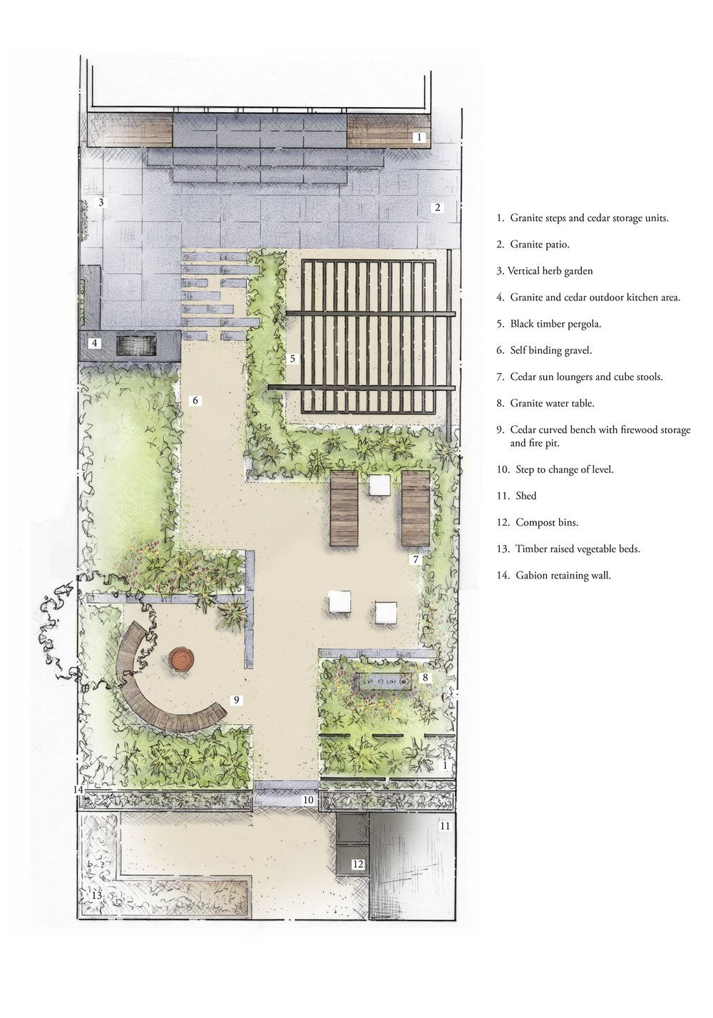 Burghill Rd Garden Design Plans Roof Garden Plan Landscape Design Plans