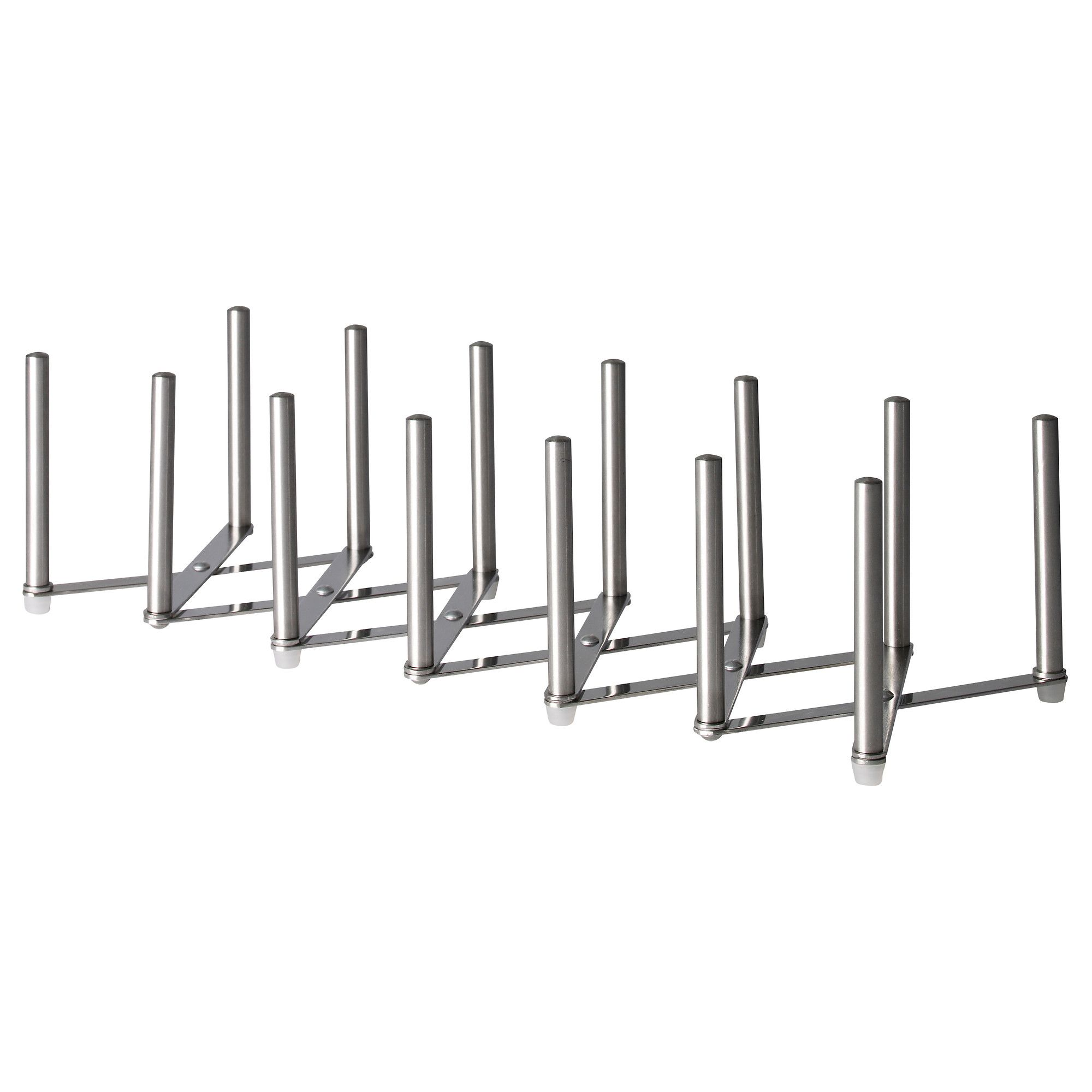 VARIERA Pot lid organizer, stainless steel IKEA   Pot lid