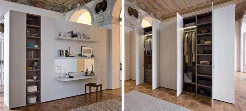 Mobili divisori per la casa armadio bifacciale - Divisori mobili per ambienti ...