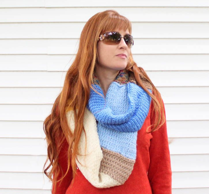 Leftover Yarn Infinity Scarf [knitting Pattern