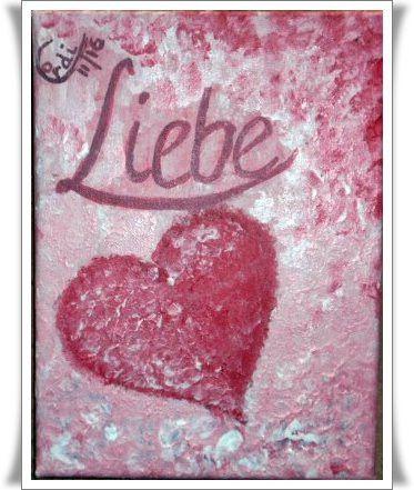 Acrylmalerei Acrylbild Liebe Ein Designerstuck Von