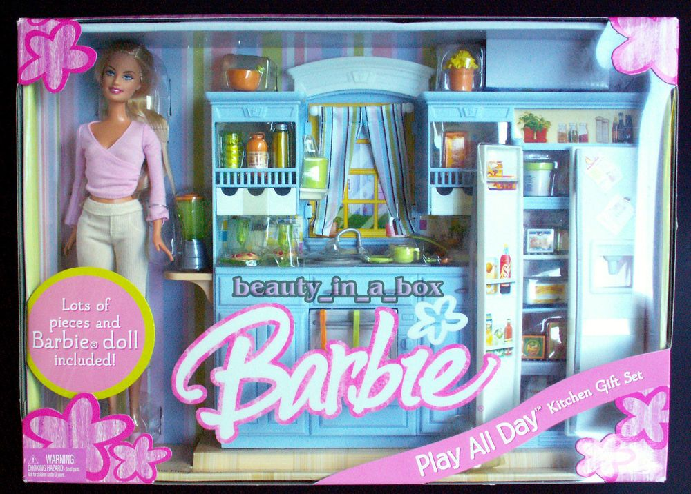 Play All Day Kitchen Gift Set Barbie Doll House Family