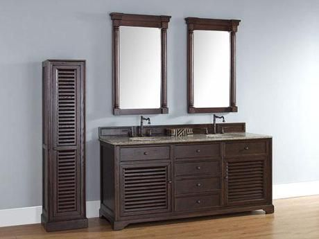 Bathroom Vanities With Louvered Shutter Style Doors Louvered - Louvered door bathroom vanity