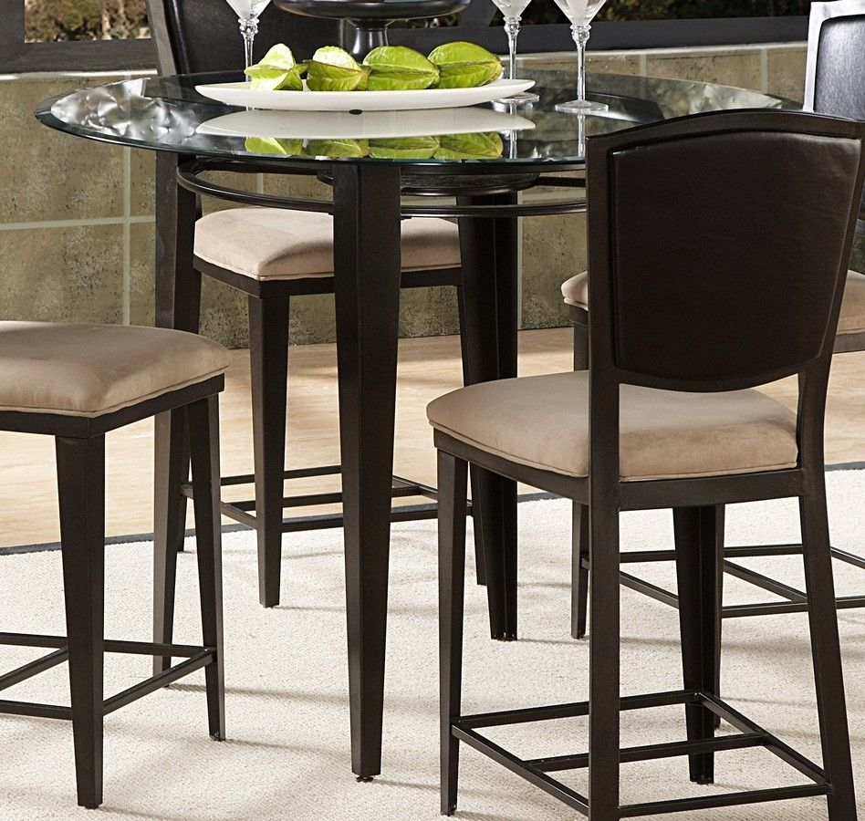Tall Round Glass Kitchen Table Glass Dining Table Set Round