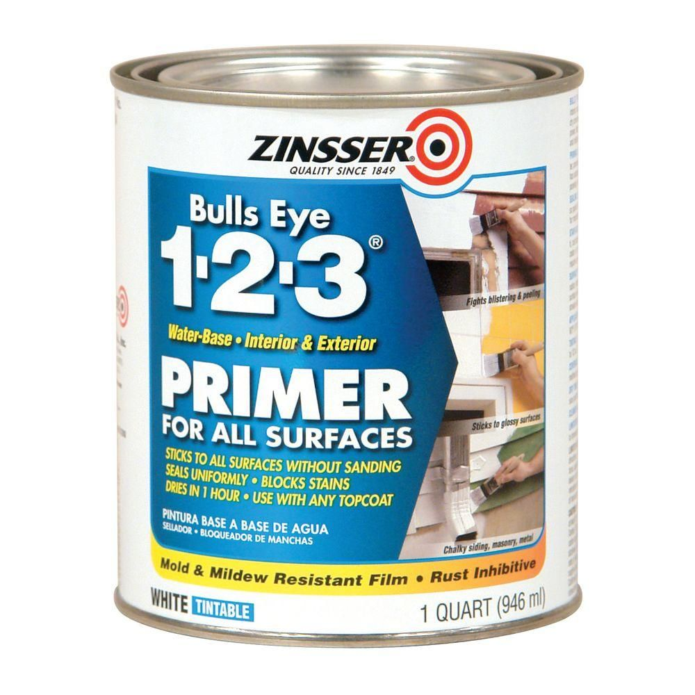Zinsser Bulls Eye 123 1 qt. White WaterBased Interior