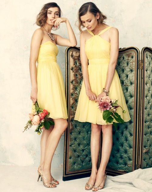 Butter Yellow Dresses