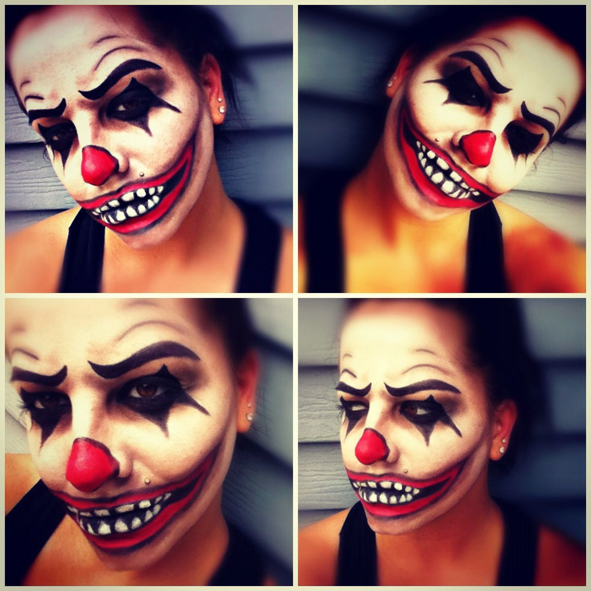 scary clown makeup I did on myself. Scary clown makeup