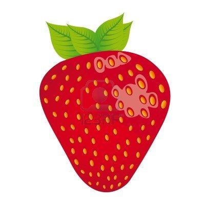 Download Red Strawberry Cartoon Images Background