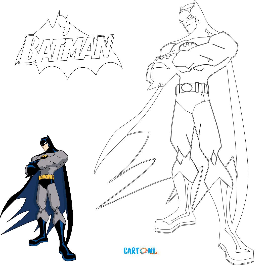 Cartoni animati disegno di batman da colorare per