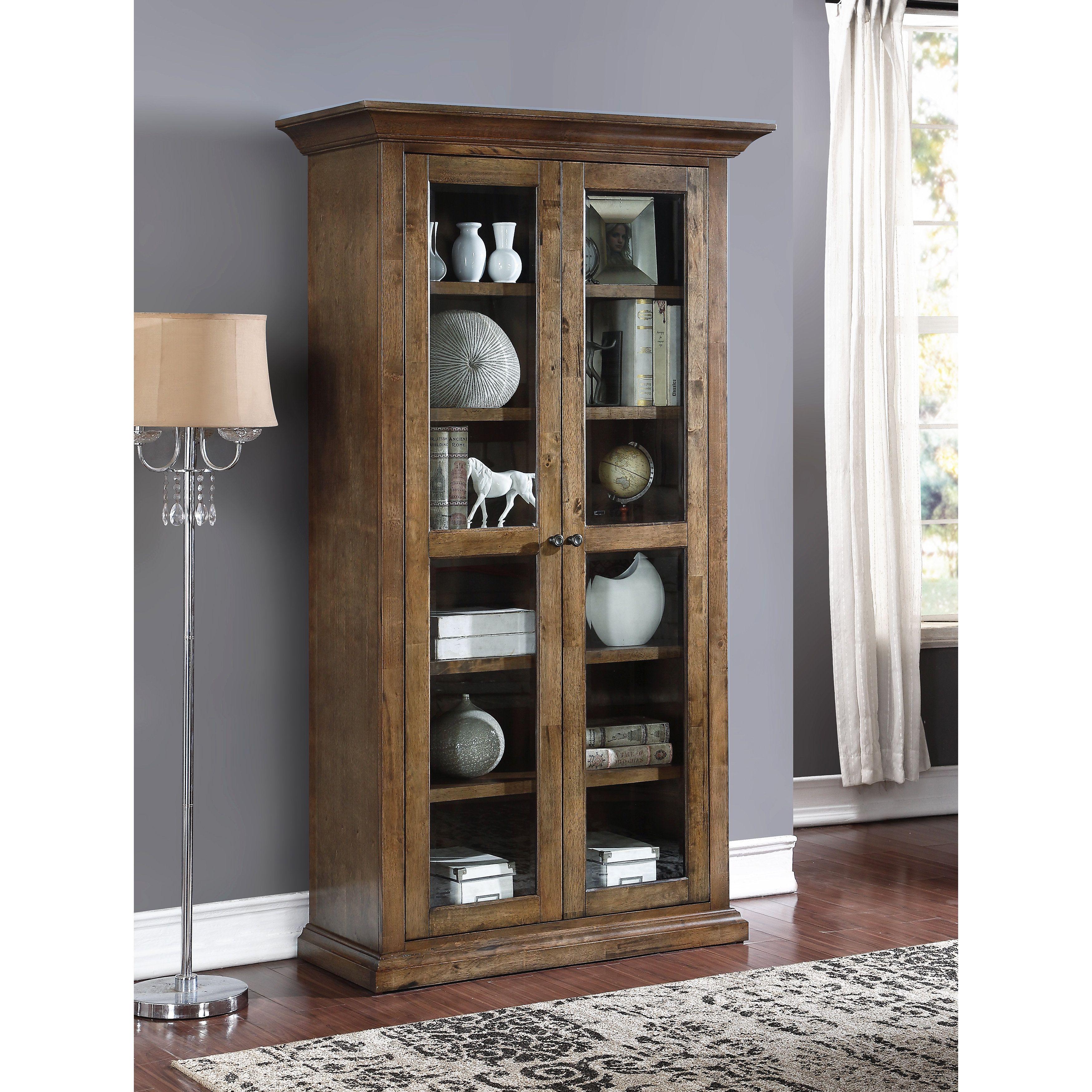 Abbyson Living Cypress Glass Bookcase