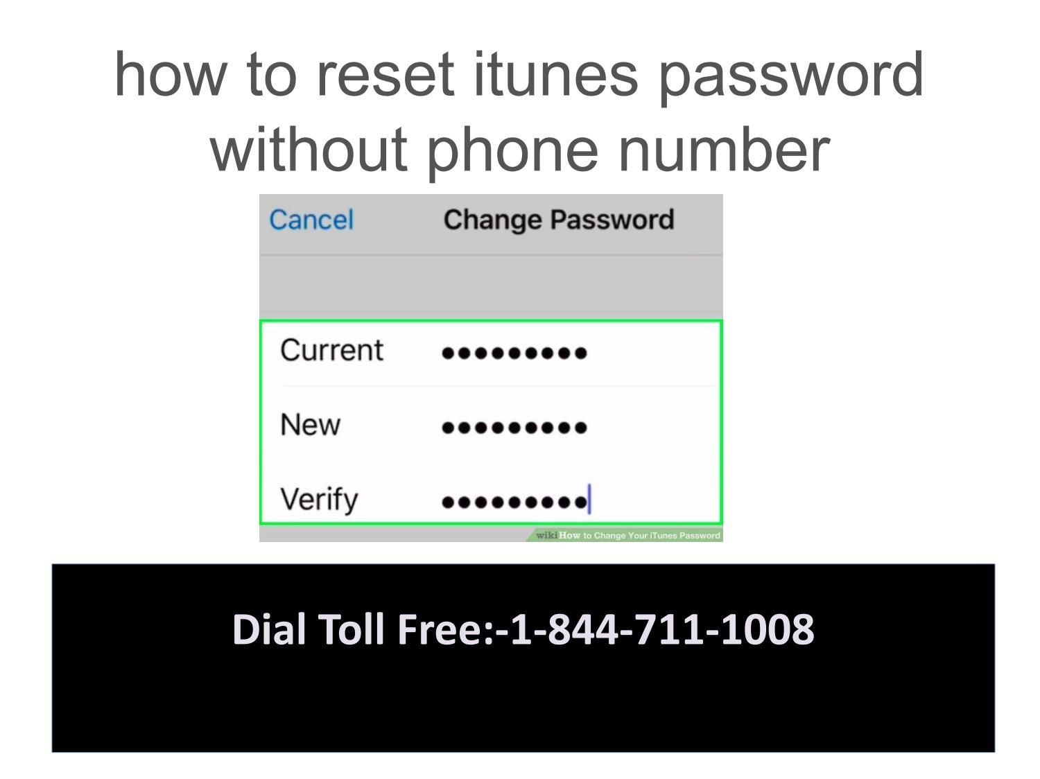 How to reset itunes password without phone number Reset