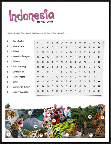 indonesia komodo dragons word search puzzles and word search. Black Bedroom Furniture Sets. Home Design Ideas