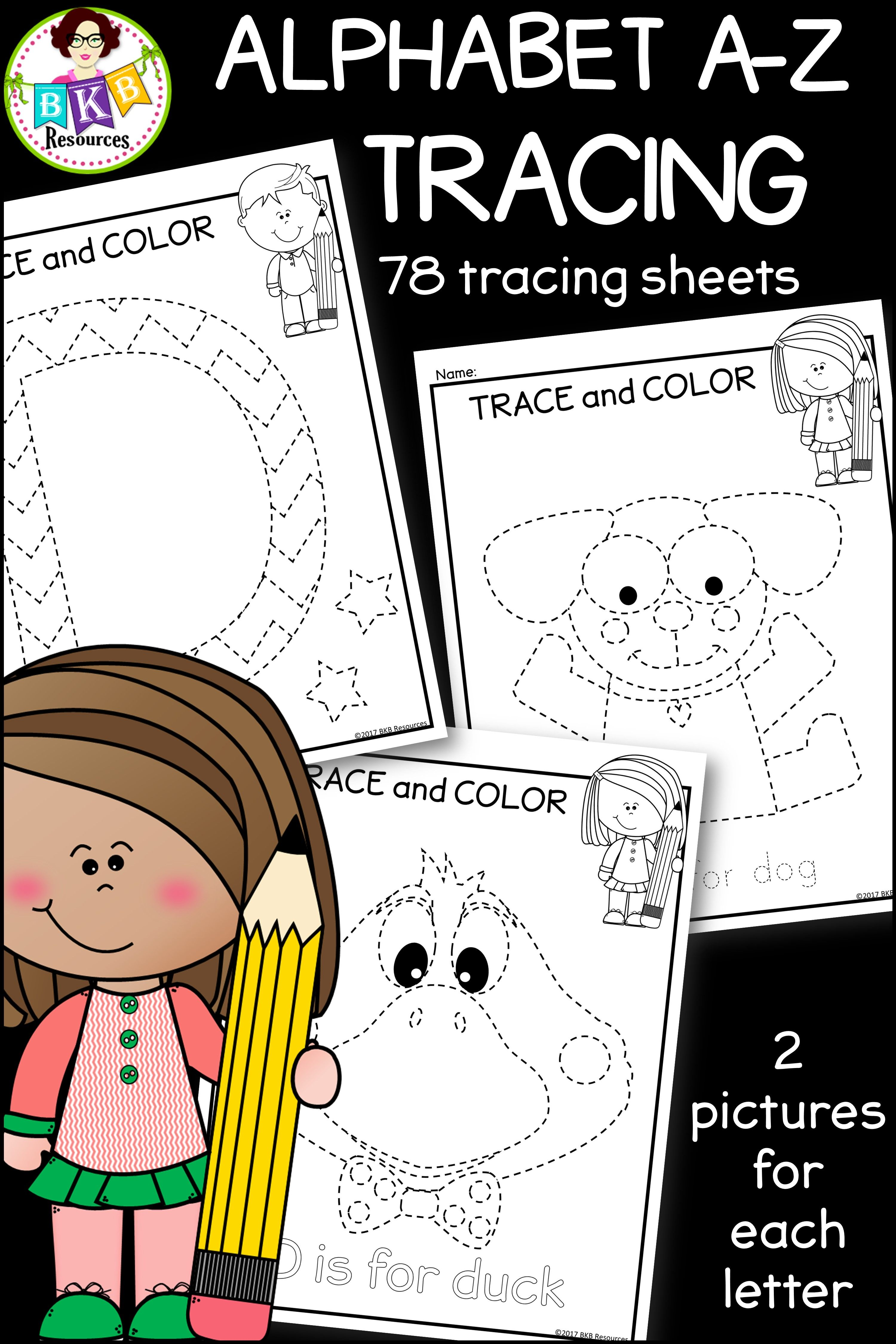 Alphabet Tracing ○ A-Z Picture Tracing ○ Pre-Writing ○ NO Prep ...