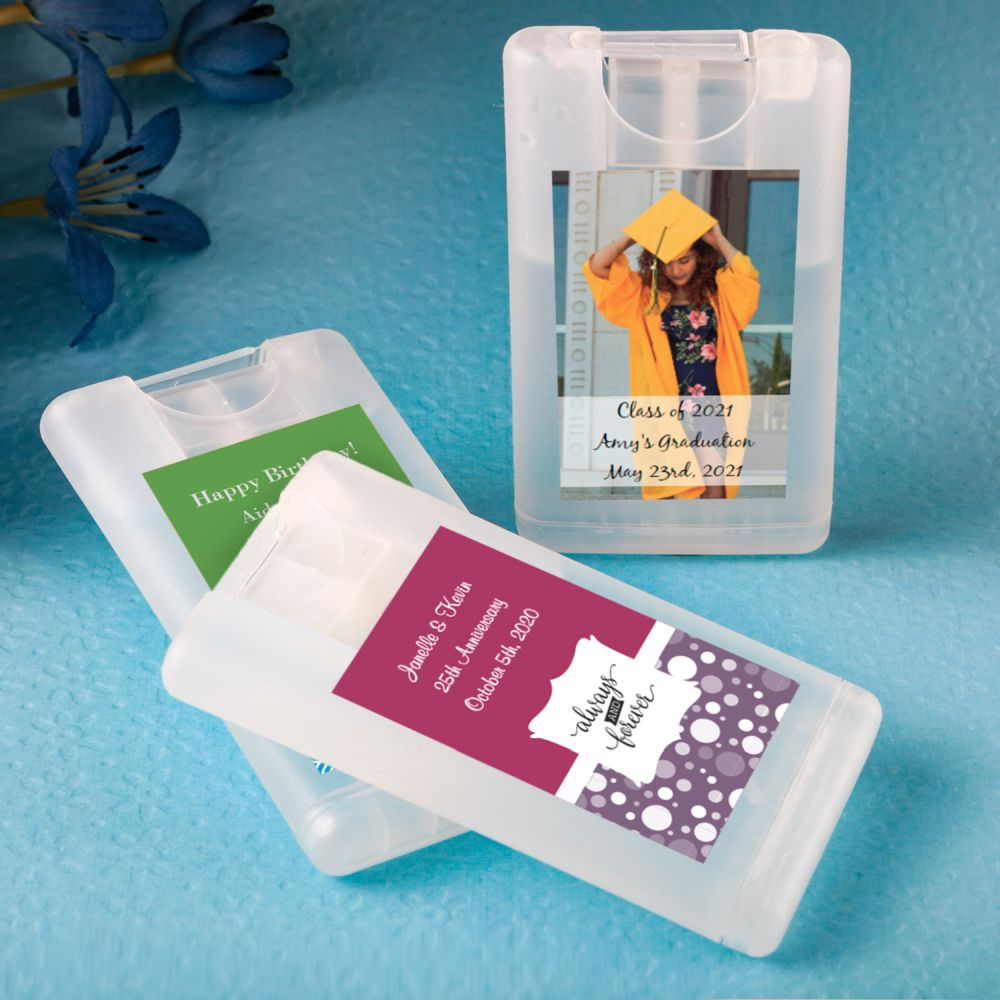 Personalized Credit Card Press And Spray Hand Sanitizer Party