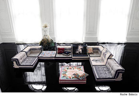Mah Jong Couture Modular Sofa By Hans Hopfer Upholstered By Jean