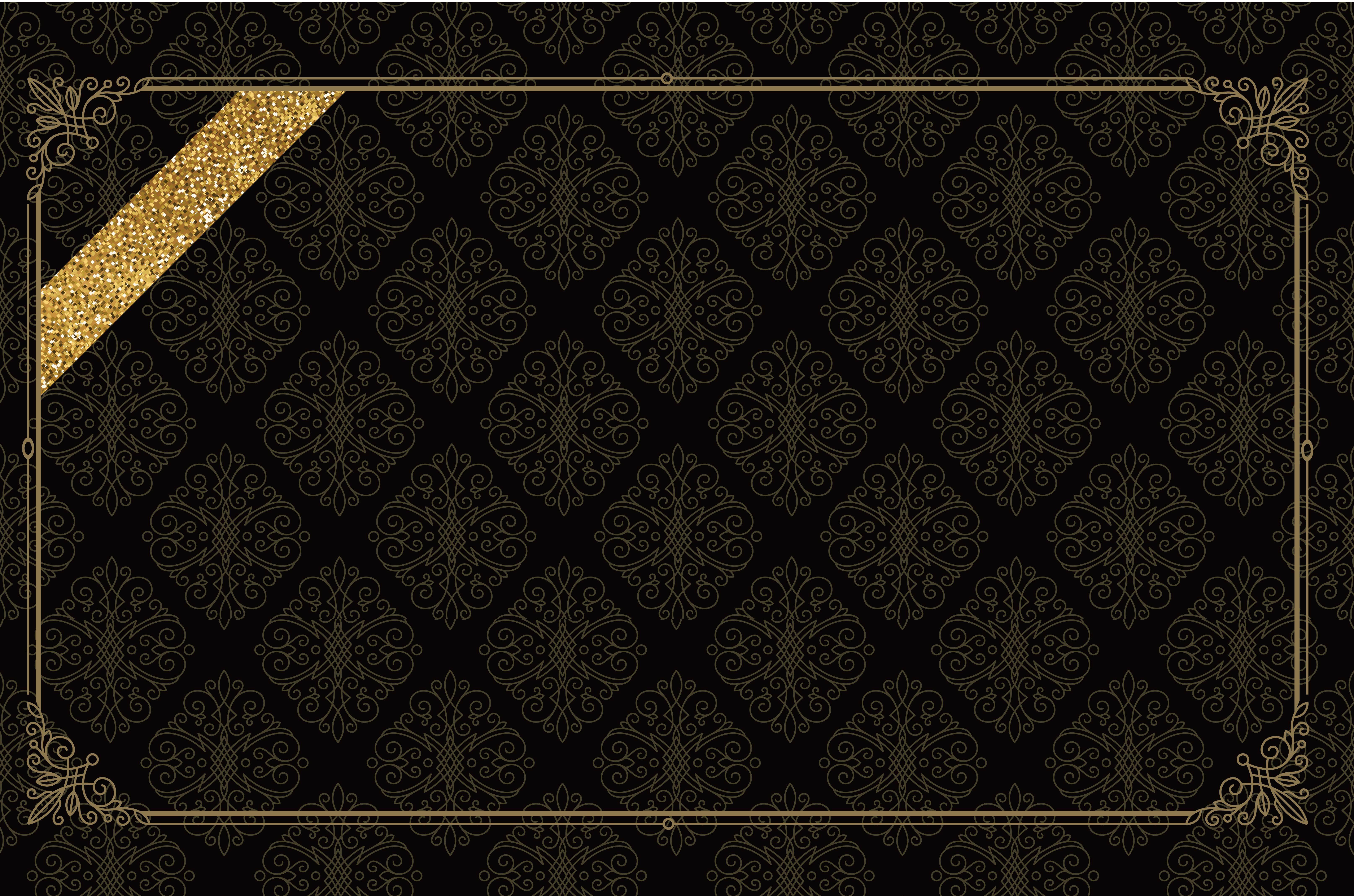 Vector Sombreamento Classico Preto Textura Moldura De Ouro Fundo Frame Background Gold Texture Gold Frame